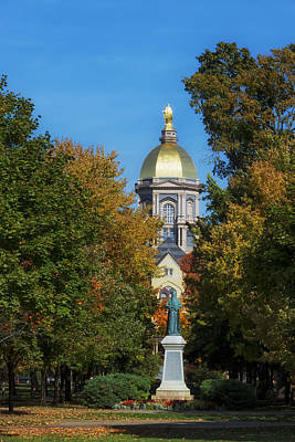 Autumn On The Campus Of Notre Dame Print by Mountain Dreams