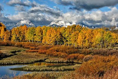 Yellowstone Digital Art - Autumn On The Snake by Kathleen Bishop