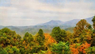 Mountain Mixed Media - Autumn Palette In The Smokies by Dan Sproul