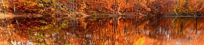 Autumn Paradise Print by Lourry Legarde