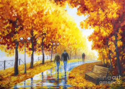 Autumn Parkway Print by Veikko Suikkanen