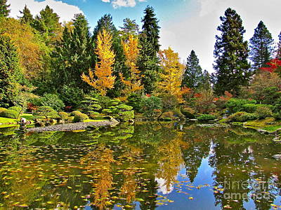 Washington Photograph - Autumn Pond by Sean Griffin