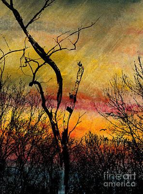 Autumn Rain Print by R Kyllo