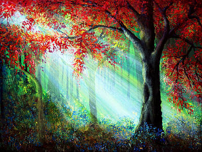 Autumn Rays Print by Ann Marie Bone