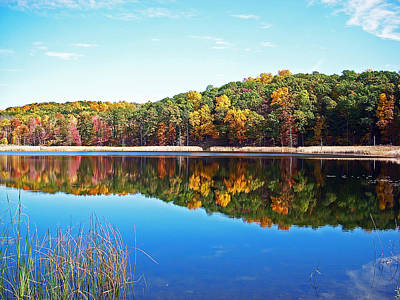 Pond Photograph - Autumn Reflection by Aimee L Maher Photography and Art Visit ALMGallerydotcom