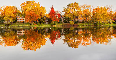 Reflection Photograph - Autumn Reflection by Garvin Hunter