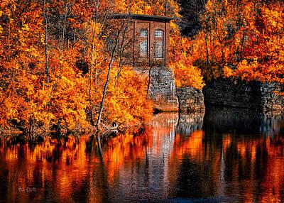 Androscoggin Photograph - Autumn Reflections  by Bob Orsillo