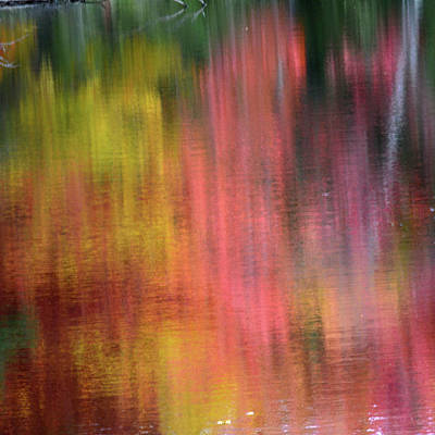 Autumn Reflections, Sheepscot River Print by Michel Hersen
