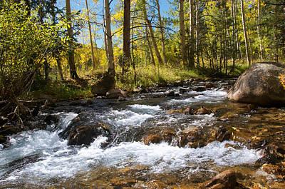 Rock Photograph - Autumn River - Monarch Pass by Aaron Spong
