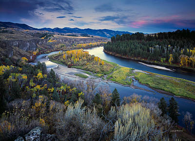 Autumn River Print by Leland D Howard
