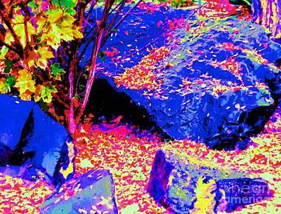 Autumn Rocks Print by Ann Johndro-Collins