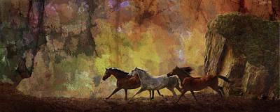 Autumn Run Print by Melinda Hughes-Berland