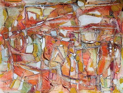 Abstract - Expressionist - African Art Painting - Autumn Shadows Autumn Silence by Hari Thomas