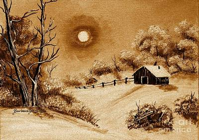 Bob Ross Digital Art - Autumn Snow by Barbara Griffin