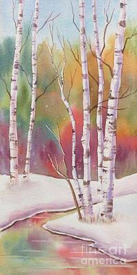 Winterscape Painting - Autumn Snow by Deborah Ronglien