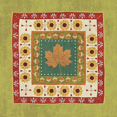 Maple Season Painting - Autumn Song Tiles II by Veronique Charron