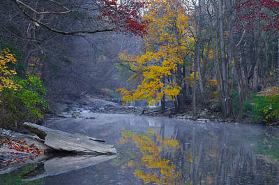Autumn Splender - Wissahickon Creek Print by Bill Cannon