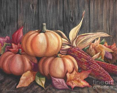 Harvest Deco Painting - Autumn Splendor by Conni  Reinecke