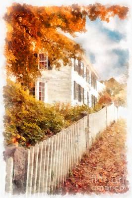 Deerfield Photograph - Autumn Splendor by Edward Fielding