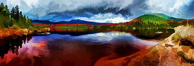 Digitally Manipulated Photograph - Autumn Storm At Roaring Brook by ABeautifulSky Photography