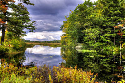 Fall Photograph - Autumn Storm Cloud Reflections by Donna Doherty