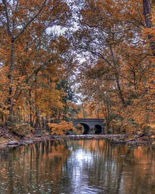 Autumn Stream Vista Print by Jim Simpson
