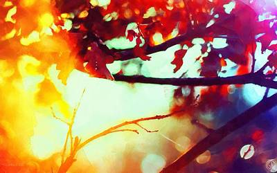 Trees Digital Art - Autumn Sun by Gun Legler