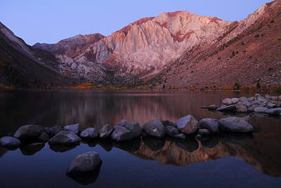 Fall Photograph - Autumn Sunrise At Convict Lake In The Eastern Sierras by Jetson Nguyen