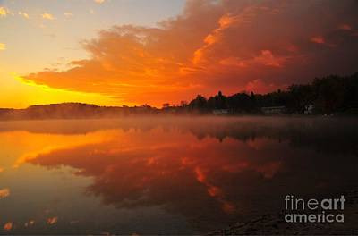 Lakes Photograph - Autumn Sunrise At Stoneledge Lake by Terri Gostola