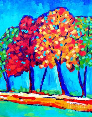 Trees Painting - Autumn Trees by Cristina Stefan