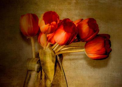 Glass Wall Digital Art - Autumn Tulips by Julie Palencia