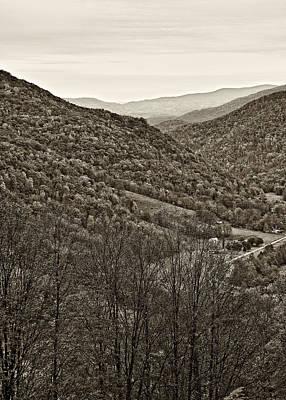 Mountain Photograph - Autumn Valley Sepia by Steve Harrington