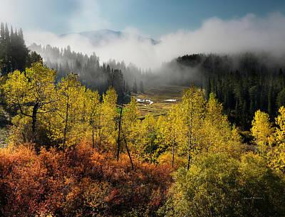 Aspens Photograph - Autumn View by Leland D Howard