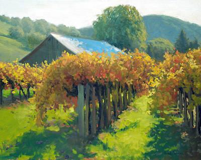 Autumn Vineyards Print by Armand Cabrera