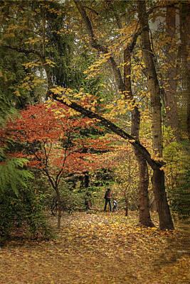 Autumn Walk Print by Diane Schuster