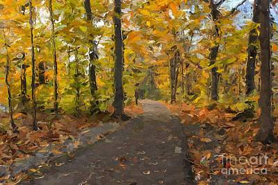 Autumn Walk Print by Robin Konarz