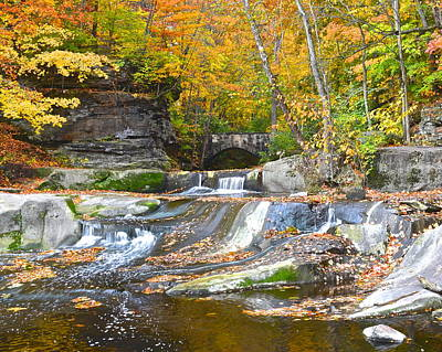 Autumn Waterfall Print by Frozen in Time Fine Art Photography