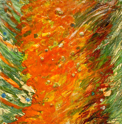 Ceramic Glazes Painting - Autumn Wind by Joan Reese