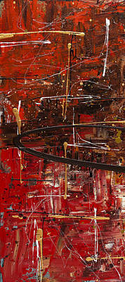 Modern Abstract Mixed Media - Autumn1  by Carmen Guedez