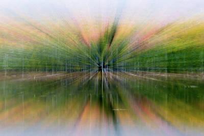 Autumnal Colors Burst Forward Print by Robbie George