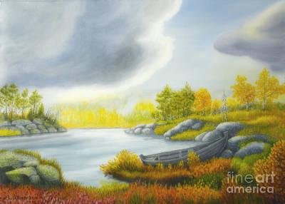 Organic Painting - Autumnal Landscape by Veikko Suikkanen