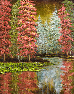 Autumn's Brilliance Print by Vic  Mastis