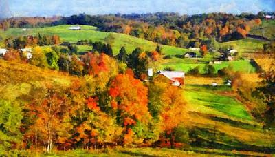 Autumn's Glory Enters The Ohio Valley Print by Dan Sproul