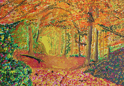 Harold Greer Painting - Autumn's Light by Harold Greer
