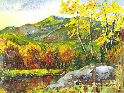 Autumn's Showpiece Print by Carol Wisniewski