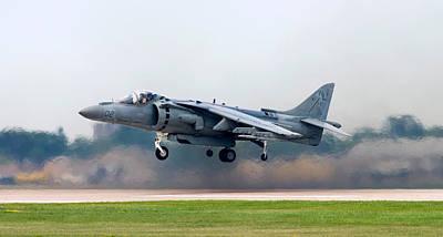 Flying Photograph - Av-8b Harrier by Adam Romanowicz