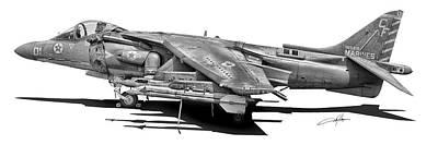 Harrier Digital Art - Av-8b Harrier by Dale Jackson