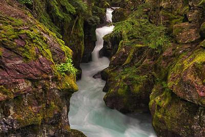 Avalanche Falls Print by Mark Kiver
