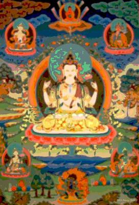 Avalokitesvara Print by Marcy Gold