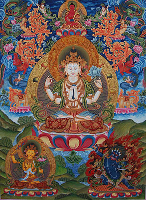 Avalokitesvara The Great Compassionate One Print by Art School